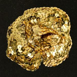 Chanel Gold Sequin Pin